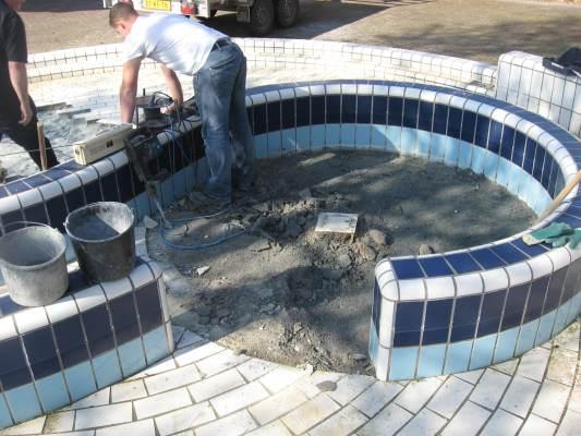 Renovatie tegelwerk buitenzwembad Tiel